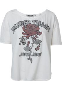 Camiseta John John Valley Malha Off White Feminina (Off White, G)