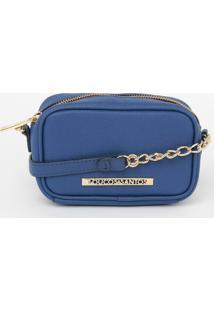 Bolsa Transversal Com Tag - Azul - 10X16X7Cmloucos E Santos