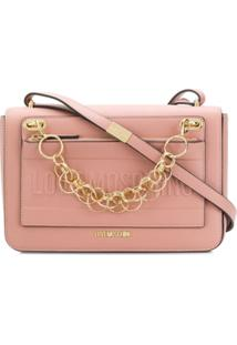 Love Moschino Logo Chain-Detail Shoulder Bag - Rosa