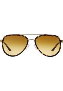 58a60da927f89 Óculos De Sol Dourado Michael Kors feminino   Shoelover