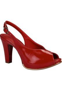 Peep Toe Feminino Chanel Verniz Dakota G0052