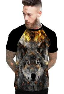 Camiseta Stompy Raglan Modelo 200 Masculina - Masculino-Preto