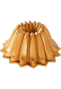 Forma Antiaderente Nordic Ware Gold Lotus 19X10Cm - 28754