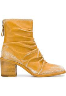 Premiata Ankle Boot Com Franzido - Amarelo