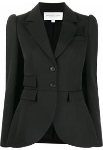 Michael Kors Collection Blazer Com Abotoamento Simples - Preto