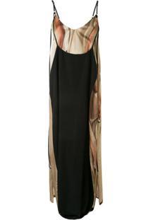 Boyarovskaya Vestido Com Sobreposição - Preto