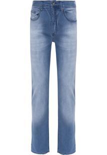 Calça Masculina Jeans Five Pockets Straight - Azul