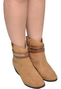Bota Feminina Ankle Boot Di Vaio Caramelo