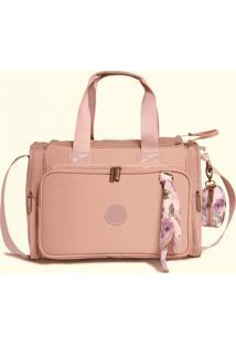 Bolsa Térmica Maternidade Masterbag Baby Anne Flora   Cor: Rose