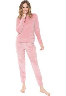 Pijama Malwee Liberta Plush Rosa
