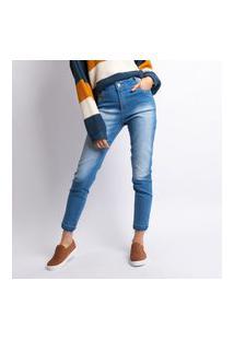 Calça Jeans Cigarrete Feminino Lavagem Clara Jeans