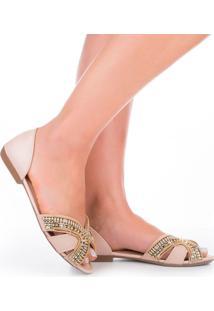 Sandália Rasteira Feminina Dakota Pedrarias Fashion Conforto Lançamento Comfort Moda Rasteirinha