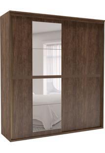 Guarda-Roupa Casal Sofisticato Com Espelho 2 Pt 6 Gv Marrom