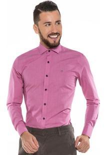 Camisa Hugo Rossi Maquinetada Rosa - Masculino