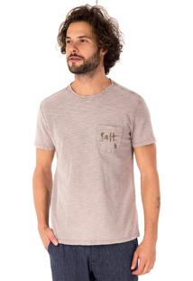 Camiseta Side Walk Camiseta Dupla Face Ondas Cinza