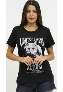 "Camiseta ""Action""- Preta & Bordã´- Coca-Colacoca-Cola"