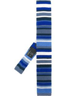 Etro Gravata De Tricô Listrada - Azul