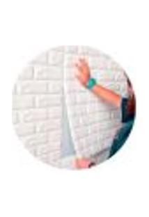 Papel De Parede Painel 3D Revestimento Tijolo Branco Auto Adesivo 70X77