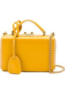 Mark Cross Bolsa Clutch De Couro - Amarelo