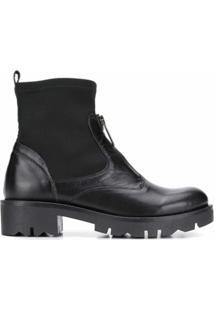 Tosca Blu Ankle Boot Com Zíper Frontal - Preto