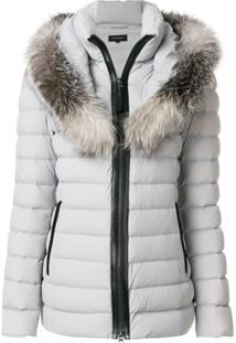 Mackage Fur Trimmed Padded Coat - Cinza
