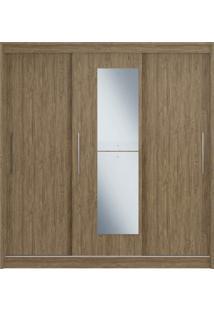 Guarda-Roupa 3 Portas De Correr C/ Espelho 3 Gavetas Rubi Decibal Moveis Wood