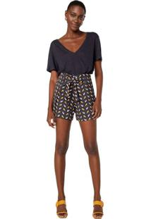 Shorts Crepe Com Amarração
