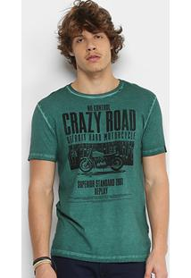 Camiseta Replay Crazy Road Masculina - Masculino