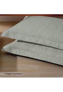 Porta Travesseiro Platine Matelass㪠Em Percal- Verde Escbuettner