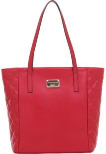Bolsa Smart Bag Couro Tiracolo - Feminino-Vermelho