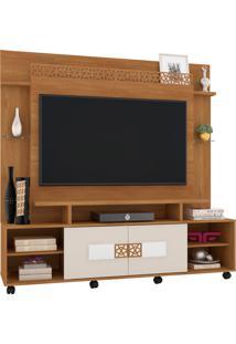 Estante Home Theater Para Tv Até 60 Polegadas Sala De Estar Orion New Coral/Off White - Frade Movelaria