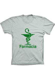 Camiseta Lu Geek Manga Curta Farmácia Prata