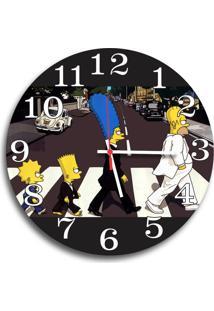 Relógio De Parede Decorativo Simpsons Família 35Cm Único