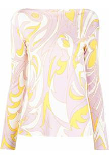 Emilio Pucci Lily Pattern Blouse - Rosa