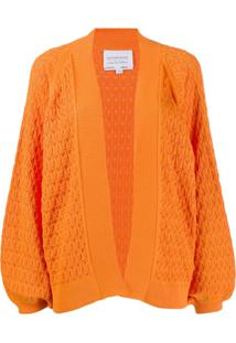 I Love Mr Mittens Balloon Sleeves Cardigan - Laranja