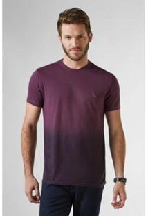 Camiseta Reserva Listras Spray Masculina - Masculino-Bordô