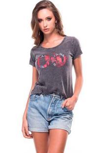 Camiseta Estonada Liverpool Useliverpool Feminina - Feminino-Preto