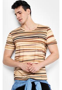 Camiseta Forum Listras Terra Masculina - Masculino