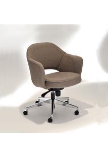 Cadeira Saarinen 71 Office Base Giratória Em Alumínio Studio Mais Design By Eero Saarinen