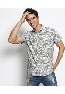 Camisa Geométrica - Cinza & Branca - Malweemalwee