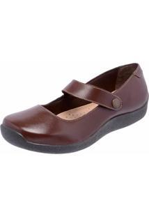 Sapatilha Casual Conforto Em Couro Dr Shoes Café