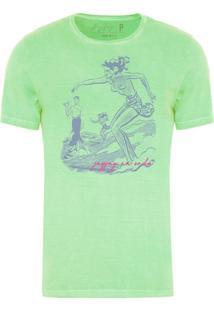 Camiseta Masculina Jay Jay Estonada Na Onda Verde Claro