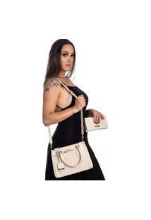 Kit Bolsa + Carteira Feminina Fashion Estilo Blogueira Gelo