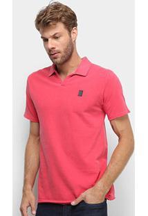 Camisa Polo Calvin Klein Estonada Despojada Masculina - Masculino-Vermelho