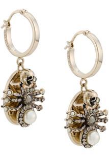 Alexander Mcqueen Spider Hoop Earrings - Prateado