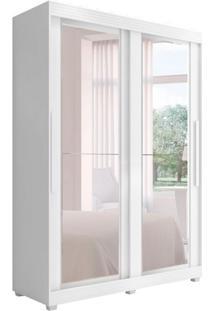 Guarda-Roupa Casal Com Espelho Assis 2 Pt Branco