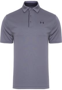 Camiseta Masculina Ua Tech Polo - Cinza