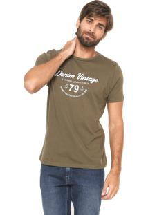 Camiseta Crocker Reta Estampada Verde