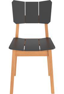 Cadeira Uma - Natural Com Grafite