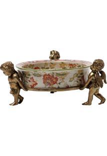 Cinzeiro Decorativo De Porcelana Le Jardin - Unissex